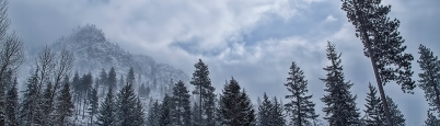 Storm moving into Icicle Canyon