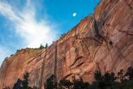 Towering cliffs of Zion