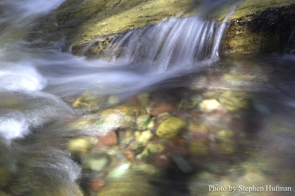 Crystal clear water of Iceberg Creek