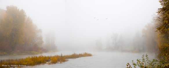 Morning Mist Along the Wenatchee River